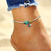 Brazalete tobillo - Perla Artificial Estrella de mar, Concha Bohemio, Moda, Boho Blanco Para Festivos / Bikini / Mujer