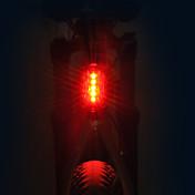 Luces para bicicleta Luz Trasera para Bicicleta LED LED Ciclismo Profesional Pila seca 15 Lumens AAA Rojo Ciclismo
