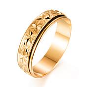 Hombre Chapado en Oro Anillo de banda - Forma de Círculo Moda Dorado anillo Para Regalo / Enamorado