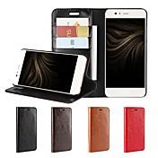 Funda Para Huawei P10 Plus P10 Lite Soporte de Coche Cartera Antigolpes con Soporte Flip Funda de Cuerpo Entero Color sólido Dura piel