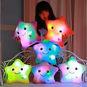 Luminous pillow Led Light Pillow Start Shape Animales de peluche y de felpa Confortable Romance Encantador Regalo