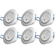 6pcs 3W 300-350 lm Ninguno Luces Empotradas Descendentes 3 leds LED de Alta Potencia Decorativa Blanco Cálido Blanco Fresco AC 110-130V