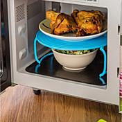 Plásticos Portátil Resistente al calor Para Horno Microondas Para utensilios de cocina Múltiples Funciones Soporte, 1pc