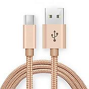 Tipo C Adaptador de cable USB Carga rapida Cable Para Samsung Huawei Lenovo Xiaomi HTC 100cm Nailon