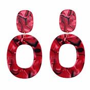 Mujer Pendientes colgantes / Pendients de aro - Sensual / Europeo Rojo / Rosa / Café claro Forma de Círculo Aretes Para Diario / Formal