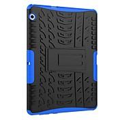 Etui Til Huawei MediaPad T3 10(AGS-W09, AGS-L09, AGS-L03) Støtsikker med stativ Rustning Bakdeksel Flise Rustning Hard PC til Huawei