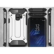 Etui Til Samsung Galaxy S9 S9 Plus Rustning Bakdeksel Rustning Hard Metall til S9 Plus S9 S8 Plus S8 S7 edge S7