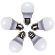 5pcs 4W 360lm E26 / E27 LED-globepærer G45 8 LED perler SMD 2835 Varm hvit 220-240V