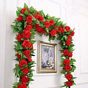 Flores Artificiales 1 Rama Fiesta / Noche / Boda Rosas Flor de Pared