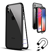Etui Til Apple iPhone 8 / iPhone 8 Plus Flipp / Gjennomsiktig Heldekkende etui Ensfarget Hard Herdet glass til iPhone X / iPhone 8 Plus /