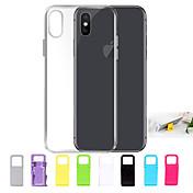 Etui Til Apple iPhone X / iPhone 8 / Etui iPhone 5 Ultratynn / Gjennomsiktig Bakdeksel Ensfarget Myk TPU til iPhone X / iPhone 8 Plus /