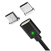 Type-C / Mikro USB USB-kabeladapter Hurtig kostnad / Høyhastighet / Flettet Kabel Til MacBook / Samsung / Huawei 100cm Nylon
