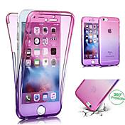 Etui Til Apple iPhone X / iPhone 8 Gjennomsiktig Heldekkende etui Fargegradering Myk TPU til iPhone X / iPhone 8 Plus / iPhone 8