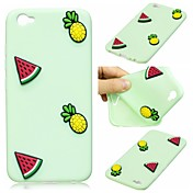 Etui Til Apple iPhone 7 / iPhone 7 Plus Mønster Bakdeksel 3D-tegneseriefigur / Frukt Myk Silikon til iPhone 7 Plus / iPhone 7 / iPhone 6s Plus