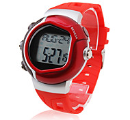 Hombre Reloj Deportivo Digital LCD Pulsómetro Calendario Cronógrafo alarma Banda Rojo Rojo
