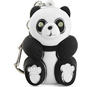 Panda Keychain with LED Flashlight and Sound Effects (Black)