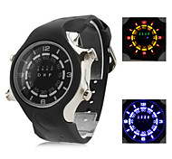 Men's and Women's Multifunction Silicone Digital LED Wrist Watch with Watch Case (Black) Cool Watch Unique Watch