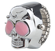 cheap -Women's Quartz Ring Watch Japanese Casual Watch Alloy Band Skull Silver
