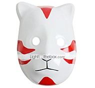 baratos -Máscara Inspirado por Naruto Fantasias Anime Acessórios de Cosplay Máscara Branco / Vermelho PVC Masculino / Feminino