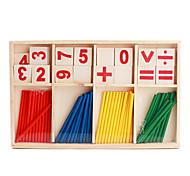 Недорогие -Деревянные, арифметические палочки, развивающий набор для детей