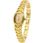 Недорогие -Женские Модные часы Часы-браслет Кварцевый Группа Винтаж Элегантные часы Золотистый