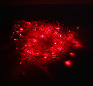 Festival Decoration 120-LED 8-Mode Red Light Icicle Lamps for Party (220V)