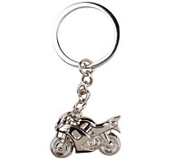 cheap -Metal Silver Cool Motorcycle Keychain