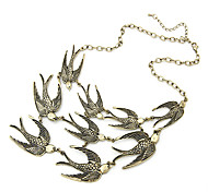 cheap -Women's Alloy Vintage Necklace Statement Necklace - Alloy Animal Design Fashion Adjustable European Bird Party Daily