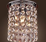 cheap -Modern/Contemporary Crystal Mini Style Pendant Light Downlight For Living Room Dining Room Study Room/Office 110-120V 220-240V Bulb