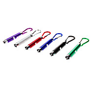 cheap -Key Chain Flashlights lm 1 Mode - with Batteries Camping/Hiking/Caving Black Gray Purple Green Blue