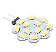 1.5w g4 led bi-pin luces 12 smd 5630 150-200lm blanco natural 6000k dc 12v