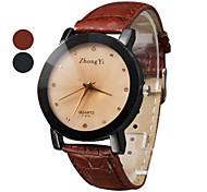 Недорогие -Жен. Кварцевый Нарядные часы Горячая распродажа PU Группа Кулоны Черный Коричневый
