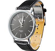 Unisex's PU Analog Quartz Wrist Watch (Black) Cool Watch Unique Watch