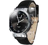 Недорогие -Женские Модные часы Кварцевый PU Группа Черный Белый