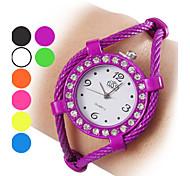 Women's Diamante Case Rope Alloy Quartz Analog Bracelet Watch (Assorted Colors) Cool Watches Unique Watches Fashion Watch