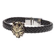 Недорогие -Мужская мода Wolf Магнитные браслеты Тканые пряжки