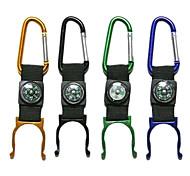 Недорогие -Алюминиевый портативный карабин/компас с держателем для бутылки (цвет случайный)