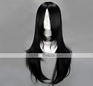 Косплэй парики Наруто Neji Hyuga Черный Средний Аниме Косплэй парики 65 CM Термостойкое волокно Мужской