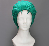 Cosplay Wigs One Piece Roronoa Zoro Green Short Anime Cosplay Wigs 35 CM Heat Resistant Fiber Male