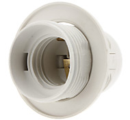 E27 Base Bulb Screw Thread Socket Lamp Holder (White) High Quality
