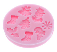 Mold 3D Cartoon For Cake / For Cookie / For Pie Silicone Eco-Friendly / Christmas / DIY / 3D