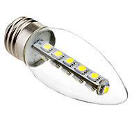 E26/E27 LED Candle Lights C35 16 SMD 5050 180 lm Cold White 6000K K Decorative AC 220-240 V