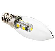 baratos -6000 lm E14 Luzes de LED em Vela C35 7 leds SMD 5050 Branco Frio AC 220-240V