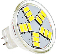 cheap -1.5W 6000 lm GU4(MR11) LED Spotlight MR11 15 leds SMD 5630 Natural White AC 12V