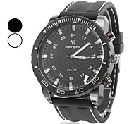 V6® Men's Fashion Style Black Dial Silicone Band Quartz Wrist Watch (Assorted Colors) Cool Watch Unique Watch