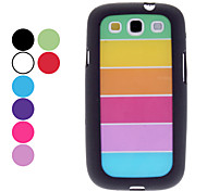 cheap -For Samsung Galaxy Case Pattern Case Back Cover Case Lines / Waves PC Samsung S3