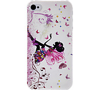 Fairy Butterfly Pattern Transparent Frame PC Case For iPhone 7 7 Plus 6s 6 Plus SE 5s 5c 5 4s 4