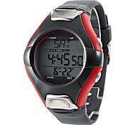 Unisex EL Style Rubber Digital Automatic Wrist Watch with Calorie Counter and Heart Rate Monitor (Grey) Cool Watch Unique Watch