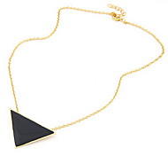 Necklace Pendant Necklaces Jewelry Daily Fashion Alloy / Acrylic Black 1pc Gift