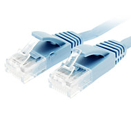 cheap -Cat 6 Male to Male Network Cable Flat Type Blue(5M)
